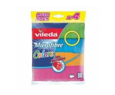 Vileda Colors Microfaser Allzwecktuch, Perfekt zur feuchten Reinigung und zum Staubwischen, 1 Packung = 4 Tücher