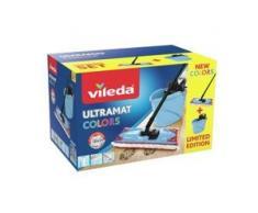 Vileda UltraMat 2in1 Box-Set Bodenwischer, 4-teilig, Wischsystem zum effektiven und bequemen Reinigen, 1 Set, blau