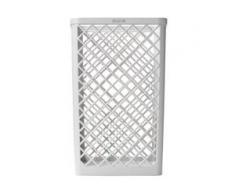 KATRIN Abfallkorb 40 Liter, weiß, Abfallbehälter zur Wandanbringung aus Kunststoff, Maße (H x B x T): 500 x 320 x 265 mm