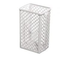 racon® k-waste Abfallkorb, ca. 35 Liter, Kunststoff, weiß, H 500 mm, B 320 mm, T 250 mm