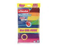 Vileda Multi Colour XXL Allzwecktuch, Microfaser, 100% Microfaser für die besonders saugstarke Reinigung, 1 Packung = 8 Tücher, Maße (L x B): 32 x 32 cm