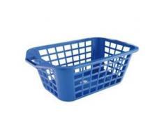 Wäschekorb 50 -Single-, aus Kunststoff, Maße: 50 x 35 x 20 cm, blau