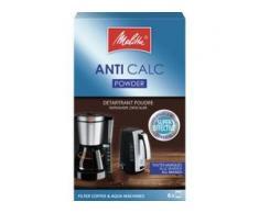 Melitta® ANTI CALC Pulver Geräteentkalker, Pulverförmiger Kalklöser für Wasserkocher und Filterkaffeemaschinen, 120 g - Packung