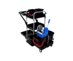 Floorstar Premium BRIX1 Reinigungswagen, Sehr hochwertiger Putzwagen, 1 Reinigungswagen
