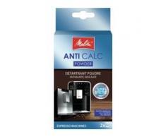 Melitta® ANTI CALC Pulver Gerätekalklöser, Kalkentferner für Kaffeevollautomaten, 1 Packung = 2 Beutel à 40 g