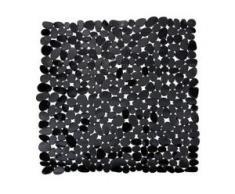 WENKO Paradise Duscheinlage, 54 x 54 cm, Duscheinlage mit Rutschstopp-Struktur für höchste Sicherheit, Farbe: schwarz