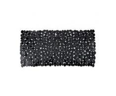 WENKO Paradise Wanneneinlage, 71 x 36 cm, Wanneneinlage mit Rutschstopp-Struktur für höchste Sicherheit, Farbe: schwarz