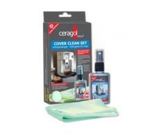 ceragol ultra® Cover Clean Set Kaffeemaschinenreinigung, Reinigt, pflegt und schützt die Kaffeemaschine, 50 ml Sprühflasche + 1 Microfasertuch