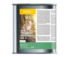 eukula® euku premium hardwax oil+ Pflegeöl, extramatt, Zur Grundbehandlung abgeschliffener Holz-, Parkett- und Korkböden & OSB-Platten, 2,5 l - Dose
