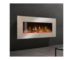 Noble Flame VEGAS 900 Edelstahl Elektro Wandkamin [B-Ware Abverkauf Schnäppchen]