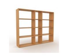 Holzregal Eiche, Holz - Skandinavisches Regal aus Holz: Hochwertige Qualität, einzigartiges Design - 190 x 157 x 35 cm,...