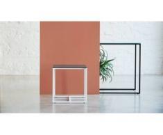 Beistelltisch Rauchglas klar - Eleganter Nachttisch: Hochwertige Materialien, einzigartiges Design - 42 x 46 x 42 cm,...