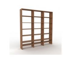 Holzregal Nussbaum, Holz - Skandinavisches Regal aus Holz: Hochwertige Qualität, einzigartiges Design - 226 x 233 x 35 cm,...