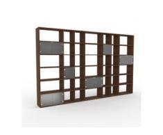 Schrankwand Kristallglas satiniert - Moderne Wohnwand: Türen in Kristallglas satiniert - Hochwertige Materialien - 380 x 233...