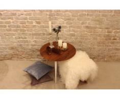 Beistelltisch Nussbaum - Eleganter Nachttisch: Hochwertige Materialien, einzigartiges Design - 60 x 47 x 60 cm, Komplett...