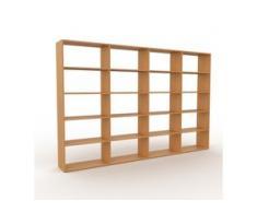 Holzregal Eiche, Holz - Skandinavisches Regal aus Holz: Hochwertige Qualität, einzigartiges Design - 301 x 195 x 35 cm,...