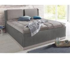 Westfalia Schlafkomfort Polsterbett, mit Bettkasten und Tagesdecke, grau