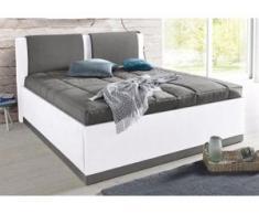 Westfalia Schlafkomfort Polsterbett, mit Bettkasten und Tagesdecke, weiß