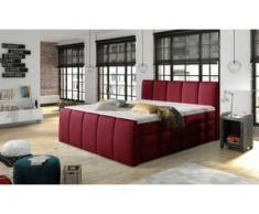 INOSIGN Boxspringbett »Fresco«, incl. 2 Bettkästen, Liegehöhe 60 cm, Kaltschaumtopper, rot