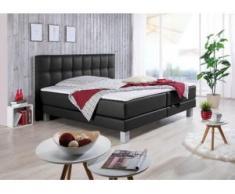 INOSIGN Boxspringbett »Tavira«, in 4 Breiten, 4 Farben und 3 Matratzenarten, incl. Topper, schwarz