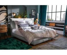 TOM TAILOR Boxspringbett »SOHO PILLOW BOX«, in Schwebeoptik, mit TOM TAILOR Knopfprint, Höhe 120 cm, grau
