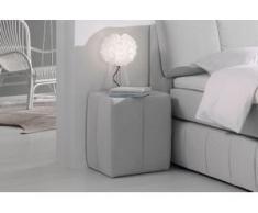 INOSIGN Nachttisch »Flora«, mit Glasplatte, grau