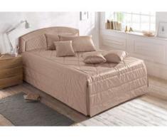 Westfalia Schlafkomfort Polsterbett, wahlweise mit Tagesdecke, Zierkissen und Bettkasten, braun