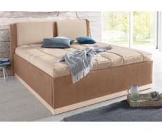 Westfalia Schlafkomfort Polsterbett, mit Bettkasten und Tagesdecke, braun