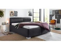 Breckle Polsterbett, mit Bettkasten und Kopfteilverstellung, schwarz
