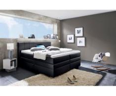 INOSIGN Boxspringbett »Airdrie«, mit Bettkasten und Topper, schwarz