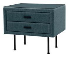 ADA premium Nachttisch »817«, mit Glasplatte, grün