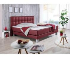 INOSIGN Boxspringbett »Tavira«, in 4 Breiten, 4 Farben und 3 Matratzenarten, incl. Topper, rot