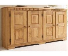 Home affaire Sideboard »Lisa«, aus schönem massivem Kiefernholz, wahlweise mit 3 oder 4 Türen erhältlich, natur