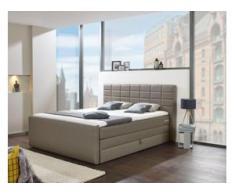 INOSIGN Boxspringbett »Lethbridge«, mit Bettkasten, wahlweise in Überlänge 220 cm, grau