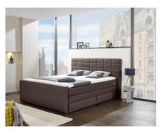 INOSIGN Boxspringbett »Lethbridge«, mit Bettkasten, wahlweise in Überlänge 220 cm, braun