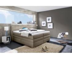 INOSIGN Boxspringbett »Airdrie«, mit Bettkasten und Topper, grau