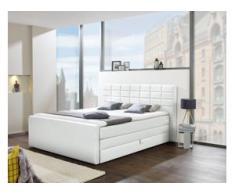 INOSIGN Boxspringbett »Lethbridge«, mit Bettkasten, wahlweise in Überlänge 220 cm, weiß
