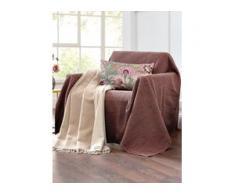 Überwurf für Couch und Bett ca. 160x270cm Peter Hahn braun