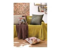 Überwurf für Couch und Bett ca. 160x270cm Peter Hahn gelb