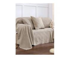 Überwurf für Couch und Bett ca. 250x270cm Peter Hahn beige