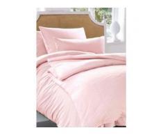 Bettbezug ca. 135x200cm, Kissenbezug ca. 80x80cm Irisette rosé