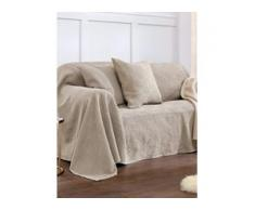 Überwurf für Couch und Bett ca. 160x270cm Peter Hahn beige