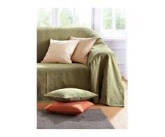 Überwurf für Couch und Bett ca. 250x270cm Peter Hahn grün