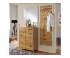 Garderobenset in Eiche Bianco furniert Spiegel (3-teilig)