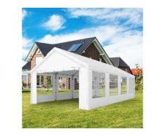 Partyzelt 4x8m PE 180g/m² weiß wasserdicht Gartenzelt, Festzelt, Pavillon