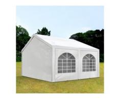 Partyzelt 4x4m PE 240g/m² weiß wasserdicht Gartenzelt, Festzelt, Pavillon