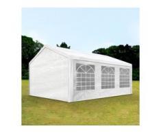 Partyzelt 3x6m PE 180g/m² weiß wasserdicht Gartenzelt, Festzelt, Pavillon