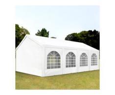 Partyzelt 3x8m PE 240g/m² weiß wasserdicht Gartenzelt, Festzelt, Pavillon