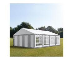 Partyzelt 6x8m PVC 500 g/m² grau wasserdicht Gartenzelt, Festzelt, Pavillon