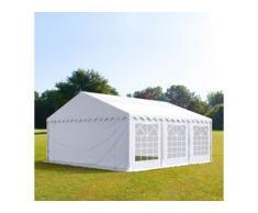 Partyzelt 6x6m PVC 500 g/m² weiß wasserdicht Gartenzelt, Festzelt, Pavillon